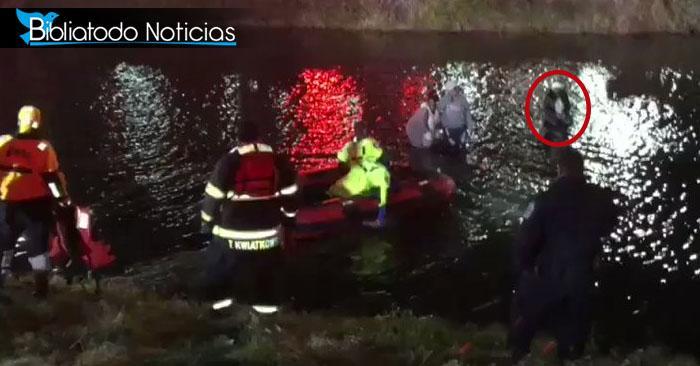 Milagrosa oración: Mujer sobrevive luego de caer en estanque congelado