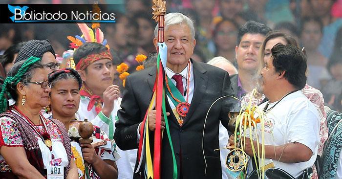 Entre brujería y deidades tomó posesión de México su nuevo presidente