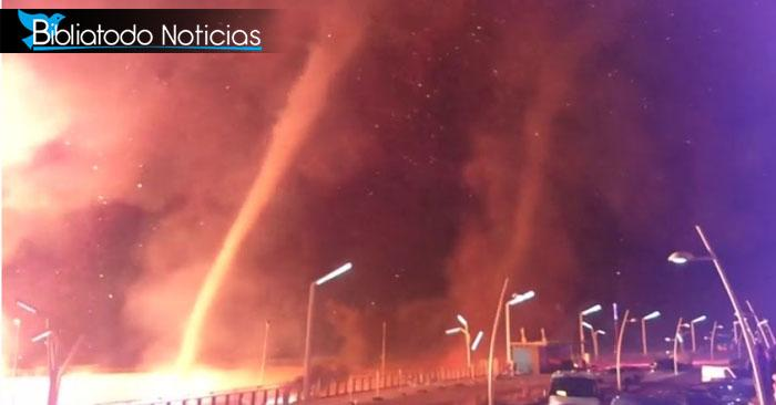 Fatal: Tornado de fuego arrasa con casas en medio de fiestas de Fin de Año