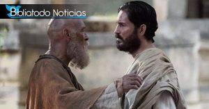 """James Faulkner y Jim Caviezel en """"Pablo, El Apóstol"""""""
