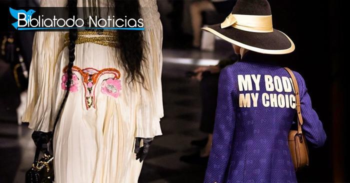 Apoyo a decisiones pro-aborto son exhibidas en la nueva línea de ropa de la marca Gucci