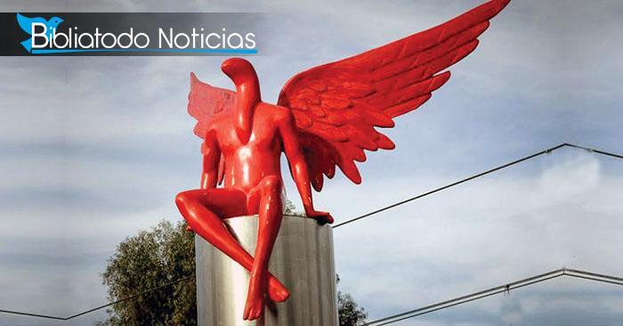 """Grecia levanta estatua de Satanás nombrándolo """"Ángel Guardián"""""""