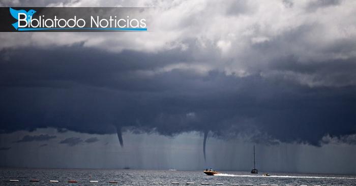 IMPRESIONANTE: Doble tornado sorprende a turistas en playa de Tailandia