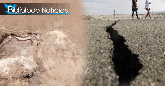 Gran terremoto de California abre grieta que se ve desde el espacio (FUERTES IMÁGENES)