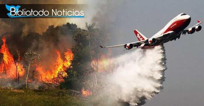 """Bolivia contrata """"Super Avión"""" que apague el fuego que consume al pulmón del planeta"""