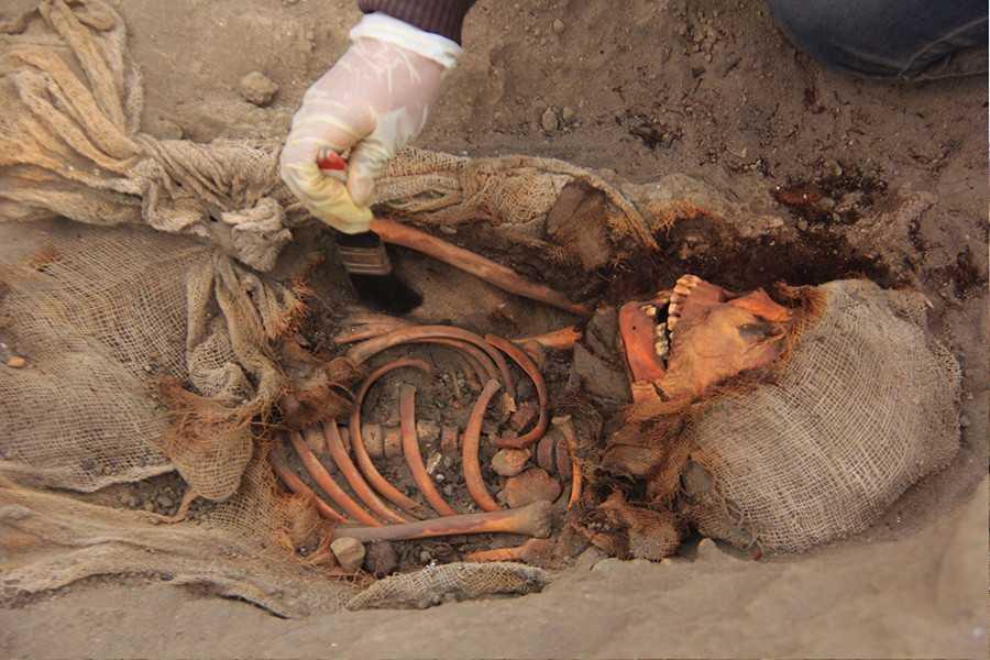 Hallan 227 restos de niños sacrificados en Perú