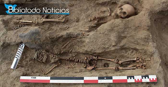 Restos de dos cadáveres de niños sacrificados