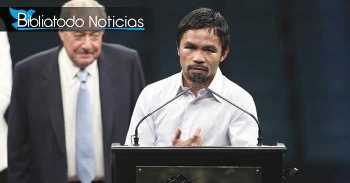 """Manny Pacquiao: """"Para Dios la pena de muerte es muy especial"""""""