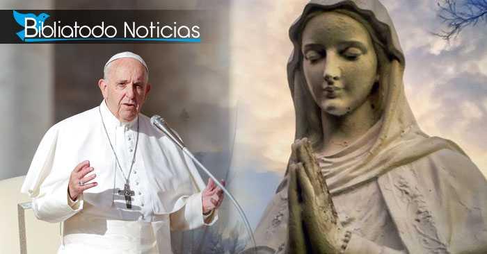 ¿QUÉ? La nueva herejía del Papa al decir que Jesús y María son los nuevos Adán y Eva