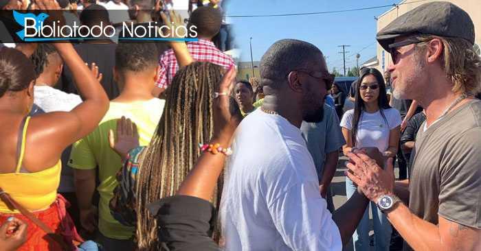 Brad Pitt y Kanye West adoran a Dios en las calles de California.