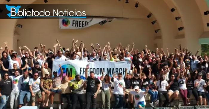 Cientos de personas marcharon en EEUU para celebrar que Jesús los libertó de la homosexualidad