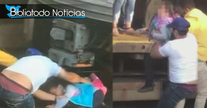 Hombre intenta suicidarse junto su hija y ella se salva de morir aplastada por un tren (VIDEO)