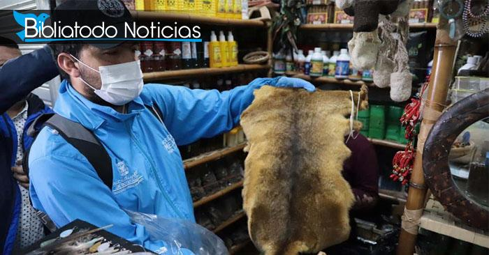 La piel de algún animal encontrado durante la investigación