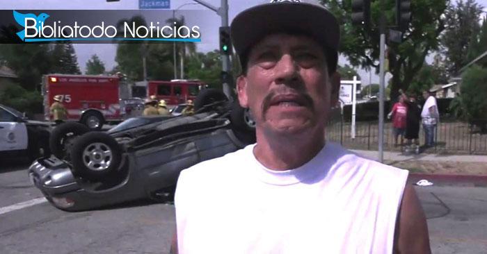 """Actor mexicano Danny Trejo salva a niño de terrible accidente, """"Dios me puso en ese lugar""""."""