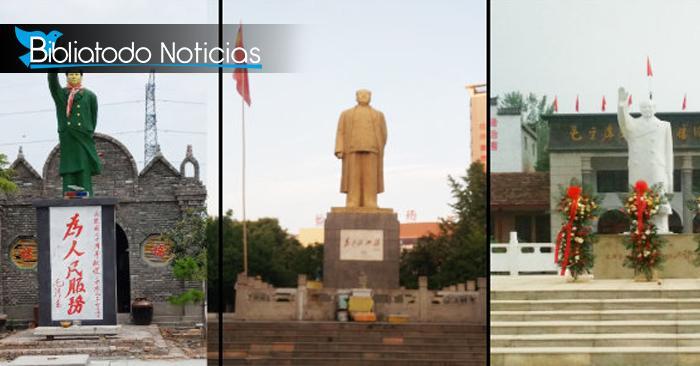 Estatuas de Mao Zedong al aire libre