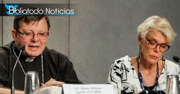 Foto del obispo Wilmar Santin en el Sínodo del Amazonas